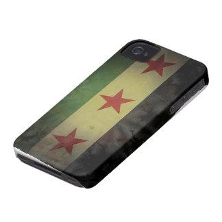 Bandera sucia de Siria Case-Mate iPhone 4 Cobertura