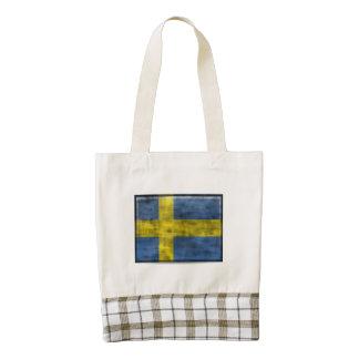 Bandera sucia de Suecia Bolsa Tote Zazzle HEART