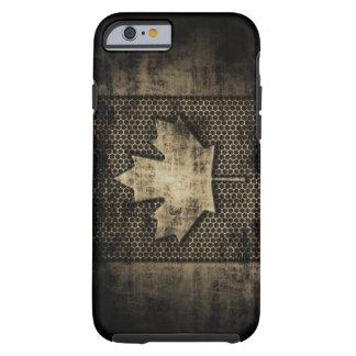 Bandera sucia del canadiense del metal funda para iPhone 6 tough