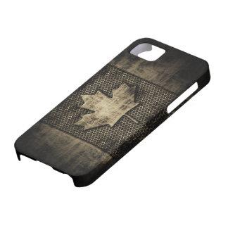 Bandera sucia del canadiense del metal iPhone 5 carcasa