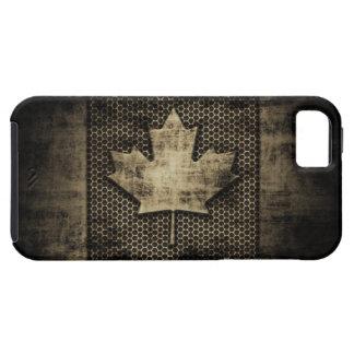 Bandera sucia del canadiense del metal iPhone 5 fundas
