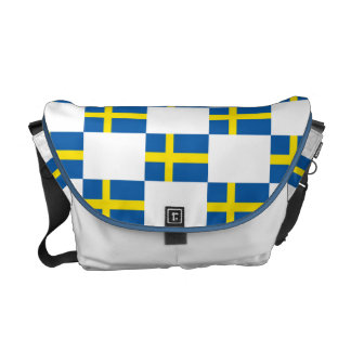 Bandera sueca bolsa de mensajería
