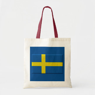 Bandera sueca bolsa tela barata