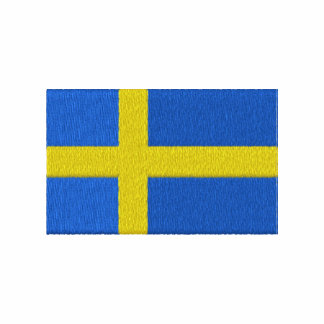 Bandera sueca polo bordado