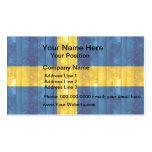 Bandera sueca de madera tarjeta de visita