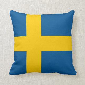 Bandera sueca en la almohada de MoJo del americano