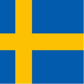 Bandera sueca escultura fotográfica