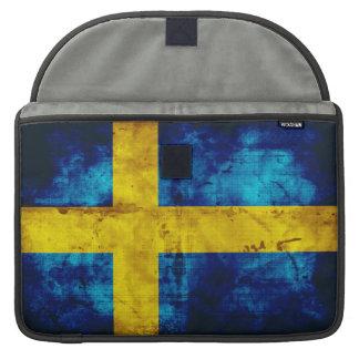 Bandera sueca fundas para macbook pro