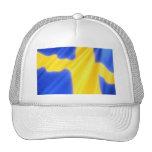 Bandera sueca gorros bordados
