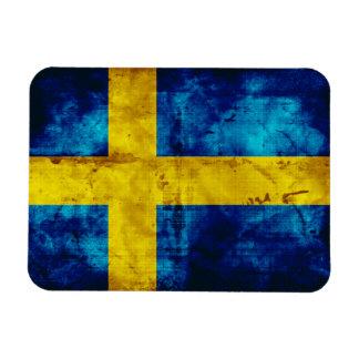 Bandera sueca imán rectangular