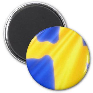 Bandera sueca imán redondo 5 cm