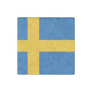 Bandera sueca imán de piedra
