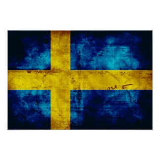 Bandera sueca posters