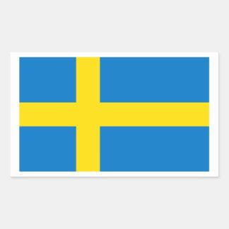 Bandera sueca rectangular pegatina
