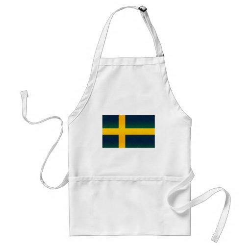 Bandera sueca pelada moderna delantales