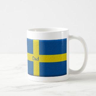 Bandera sueca Personalizable del papá Tazas