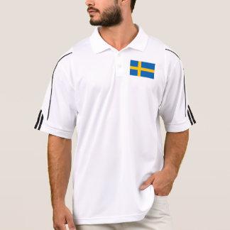 Bandera sueca polo camisetas