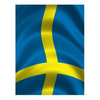 Bandera sueca postal