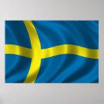 Bandera sueca poster