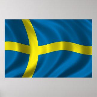 Bandera sueca póster
