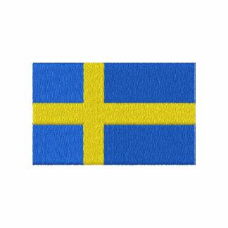 Bandera sueca sudadera bordada con capucha
