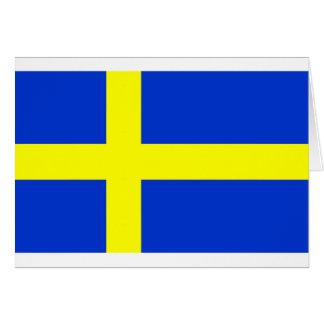Bandera sueca tarjeta de felicitación