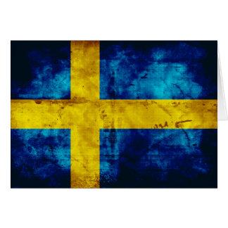 Bandera sueca tarjeta