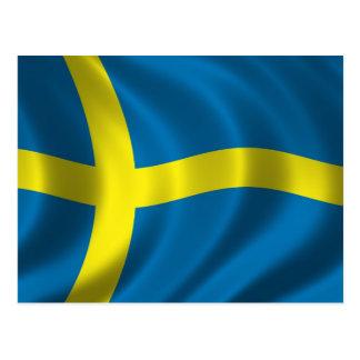 Bandera sueca tarjetas postales
