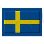 Bandera sueca tarjeton