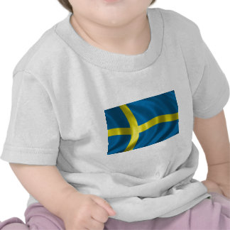 Bandera sueca camisetas
