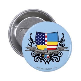 Bandera Sueco-Americana del escudo Pins