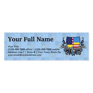 Bandera Sueco-Americana del escudo Plantillas De Tarjetas Personales