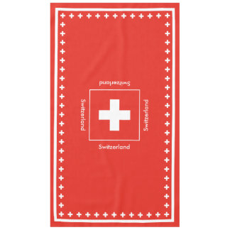 Bandera suiza - bandera de Suiza Mantel De Tela