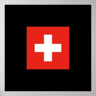 Bandera suiza - bandera de Suiza Póster
