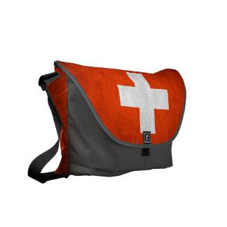 Bandera suiza bolsa de mensajeria