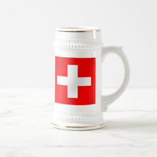 Bandera suiza de los regalos de Suiza Suisse Jarra De Cerveza