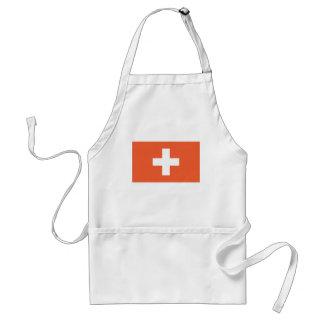 Bandera suiza delantal
