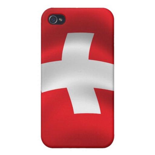 Bandera suiza para el iPhone 4 iPhone 4/4S Carcasa