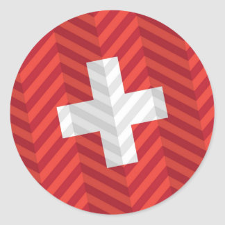 Bandera suiza pegatina redonda