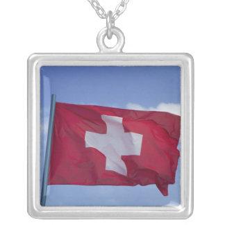 Bandera suiza RF) Colgante Cuadrado