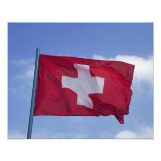 Bandera suiza RF) Fotografía