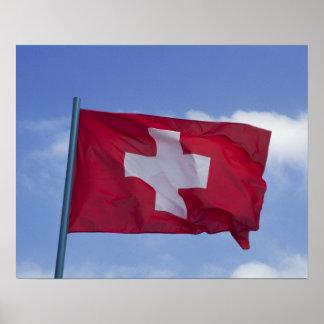 Bandera suiza RF) Poster