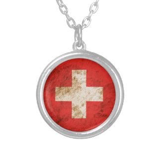Bandera suiza rugosa joyerias