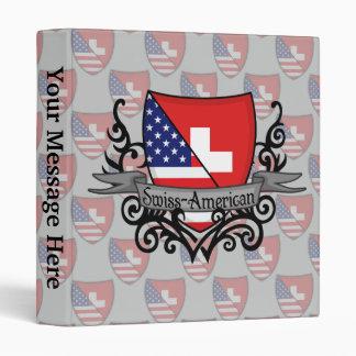 "Bandera Suizo-Americana del escudo Carpeta 1"""