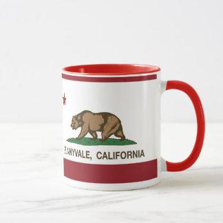 Bandera Sunnyvale del estado de California Taza