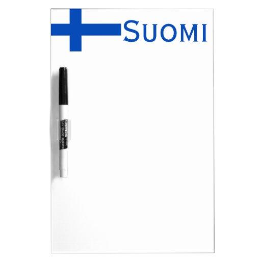 Bandera SUOMI-Finlandesa Pizarras Blancas De Calidad