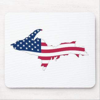 Bandera superior de la península tapete de ratón