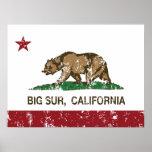 Bandera Sur grande de la república de California Poster
