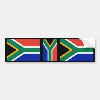 Bandera surafricana pegatina de parachoque