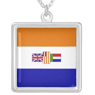 Bandera surafricana colgante cuadrado